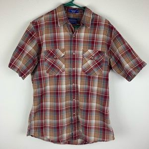 Pendleton Plaid Button Down Tracker Shirt